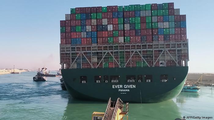 Ein riesiges Containerschiff, das jemals unter der Flagge von Panama geschenkt hat