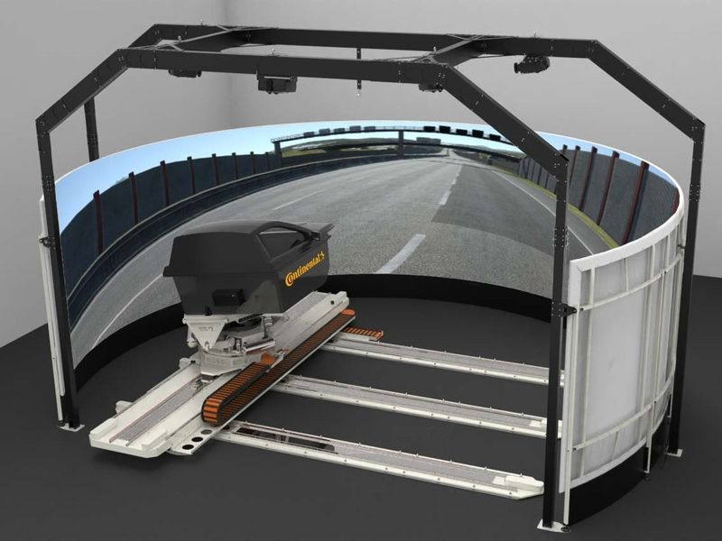 Continental hat in seinem deutschen Forschungs- und Entwicklungszentrum den dynamischen Fahrsimulator Delta 3 hinzugefügt