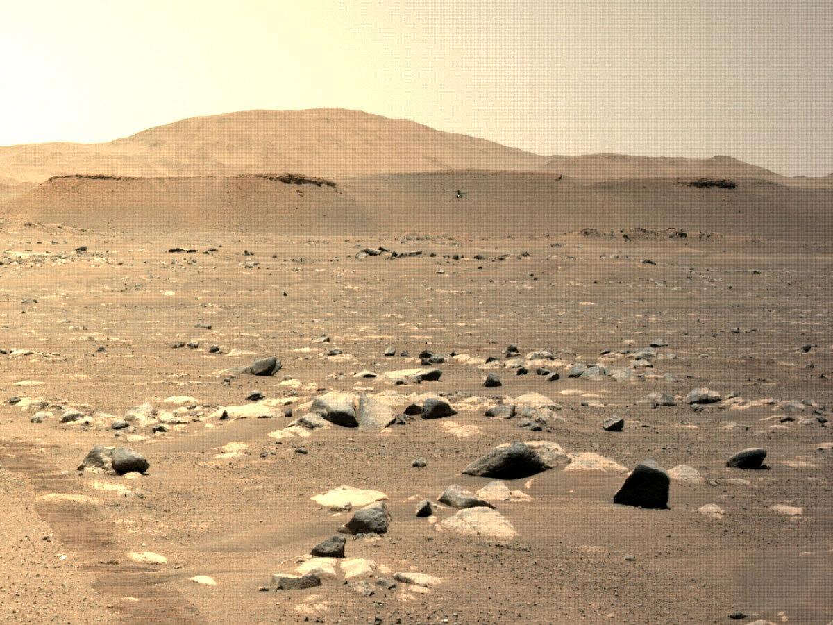Der innovative Mars-Hubschrauber der NASA fliegt beim dritten Flug - dem NASA Mars Exploration Program - schneller und weiter