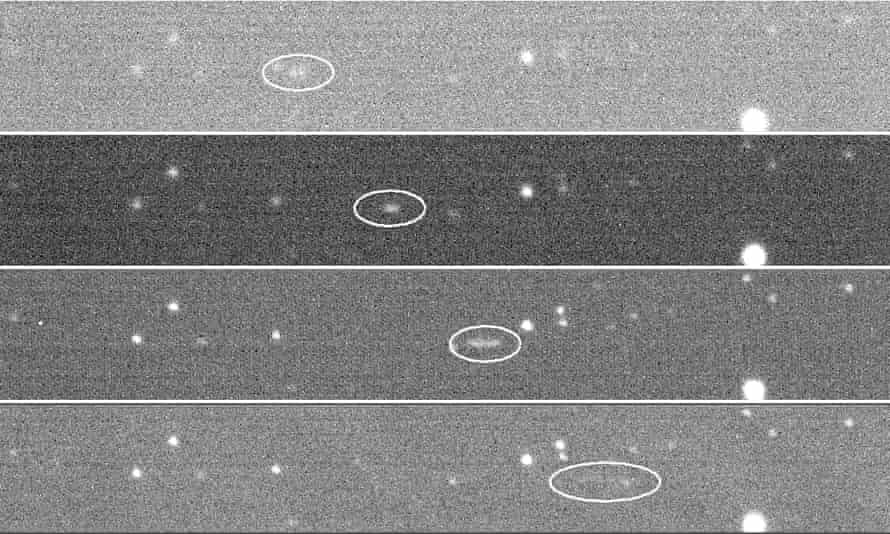 Skymapper-Fotos des Asteroiden 2018LA auf der Durchreise