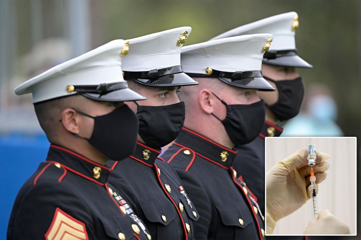 Ungefähr 40 Prozent der Marines lehnen den COVID-19-Impfstoff ab