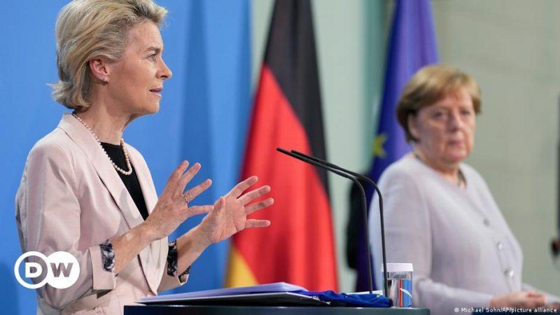 EU von der Leyen fördert deutsches Konjunkturpaket beim Merkel-Treffen    Nachrichten    DW